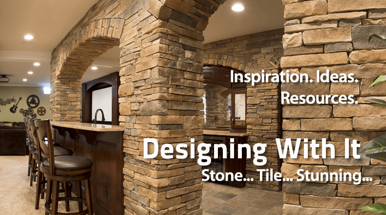 Designing With It. Stunning stone and tile. Inspiration. Ideas. Resources.